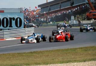 Hungarian GP F1 1997 first corner Photo Playbuzz