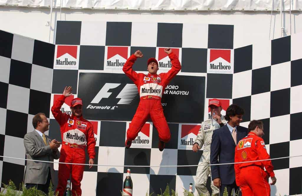Hungarian GP F1 2001 podium Photo Ferrari