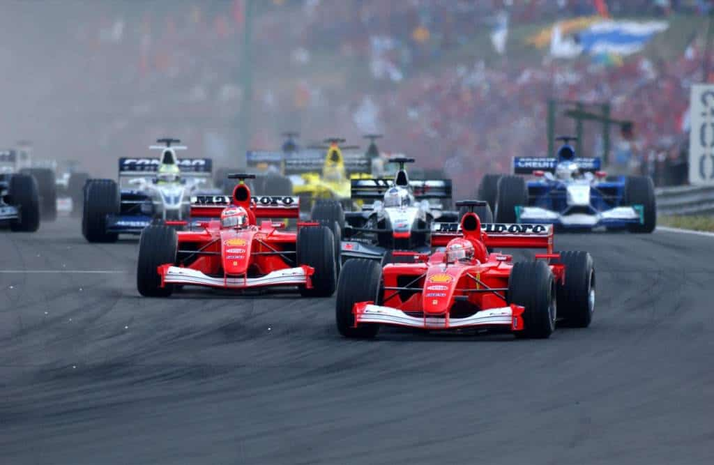 Hungarian GP F1 2001 start Photo Ferrari