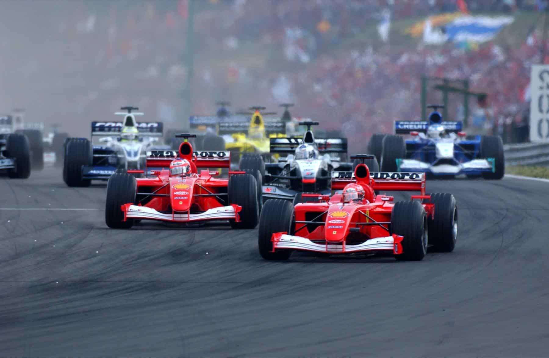 Hungarian GP F1 2001 start Photo Ferrari