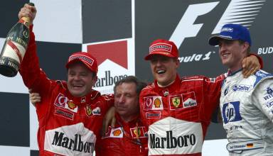 Hungarian GP F1 2002 podium Photo Ferrari