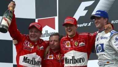 Hungarian GP F1 2002 podium Photo Ferrari