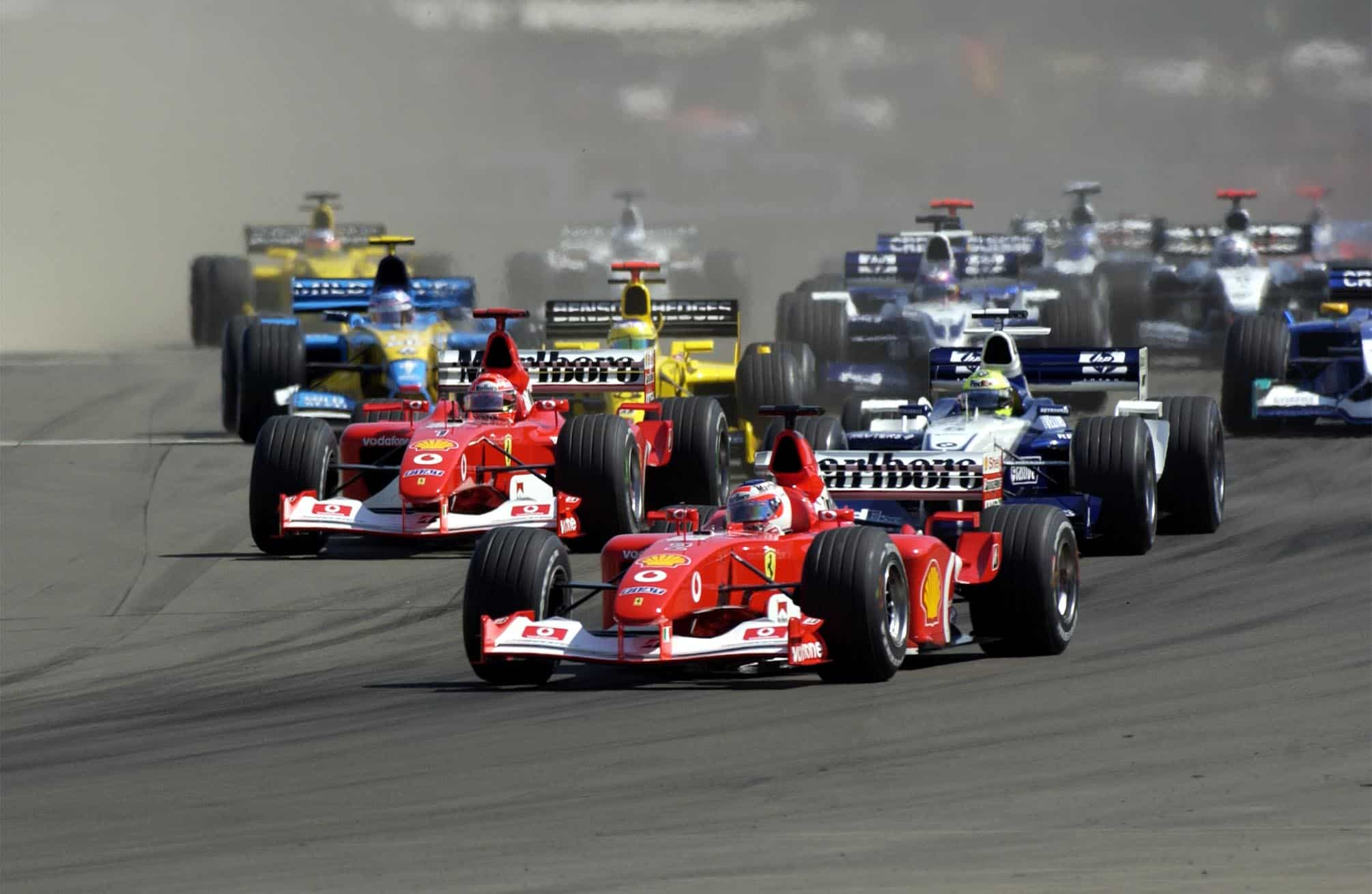 Hungarian GP F1 2002 start Photo Ferrari
