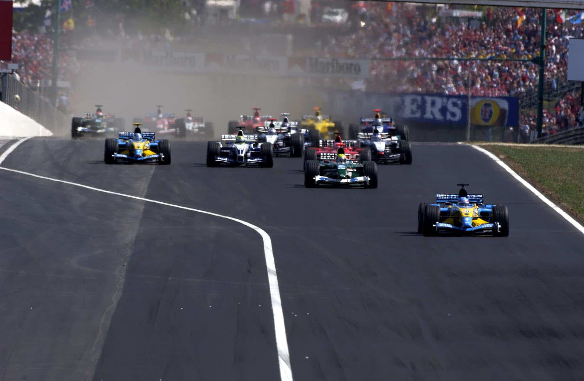 Hungarian GP F1 2003 start Photo Ferrari