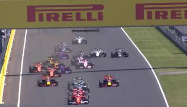 Hungarian GP F1 2017 start screenshot Youtube