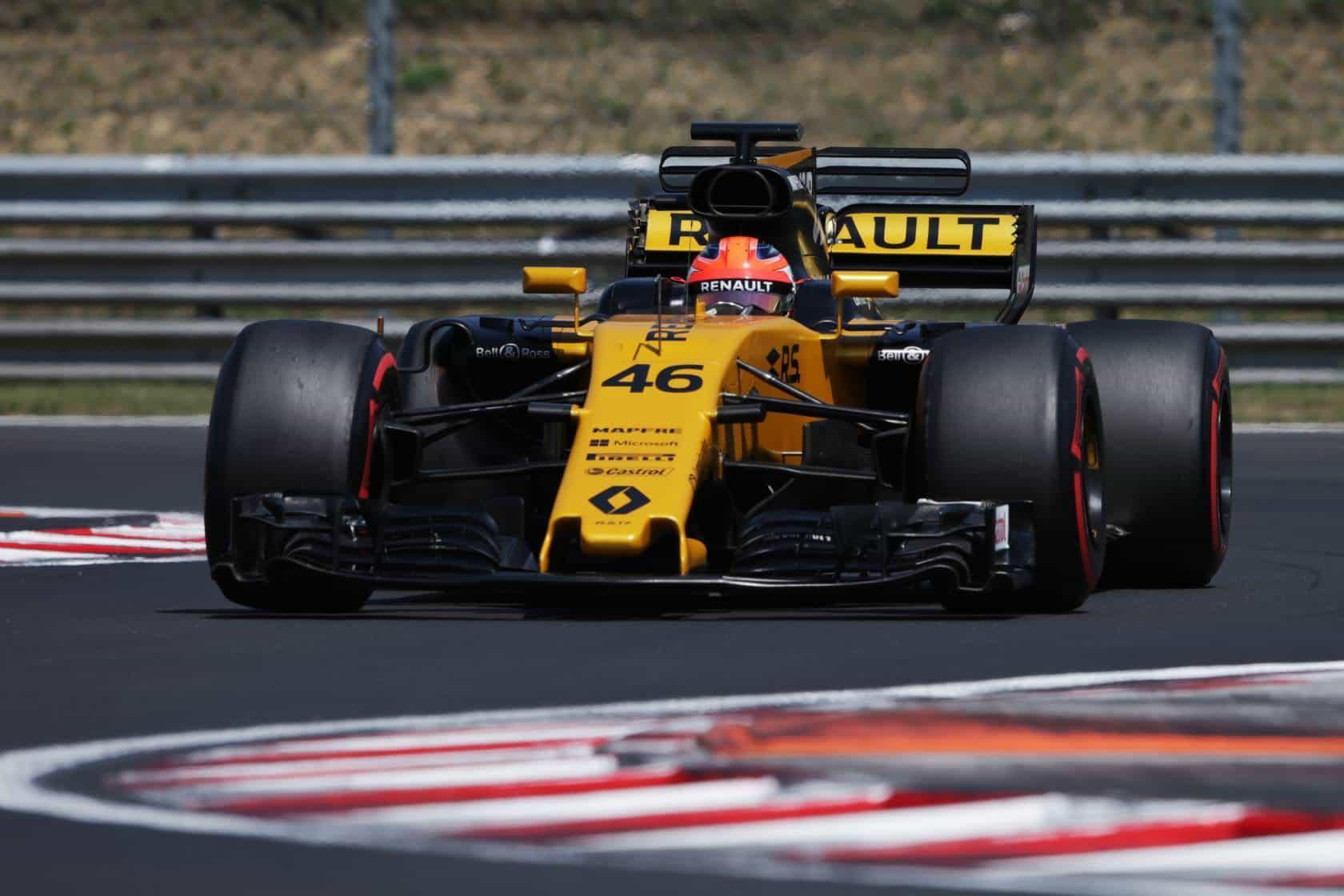 Kubica Renault chicane post Hungary F1 test day 2 Photo Renault
