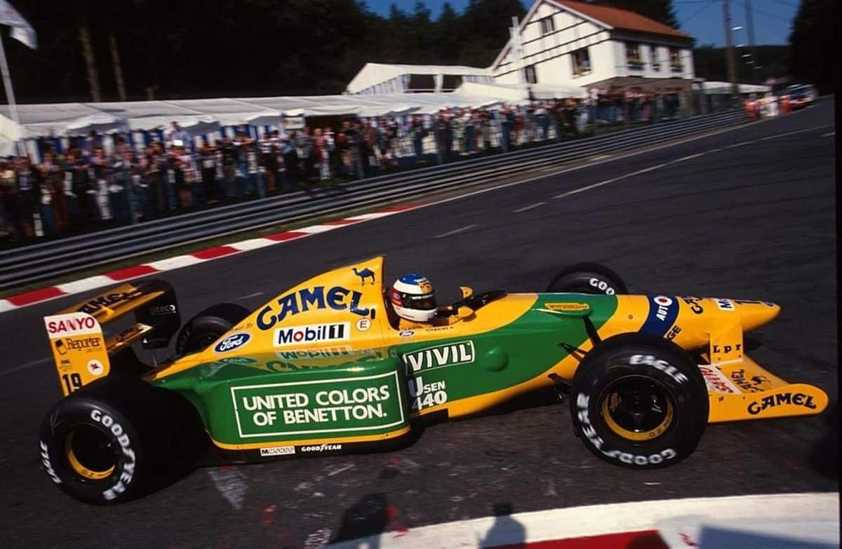 Michael Schumacher Benetton B192 Belgian GP La Source F1 1992 Photo Primotipo