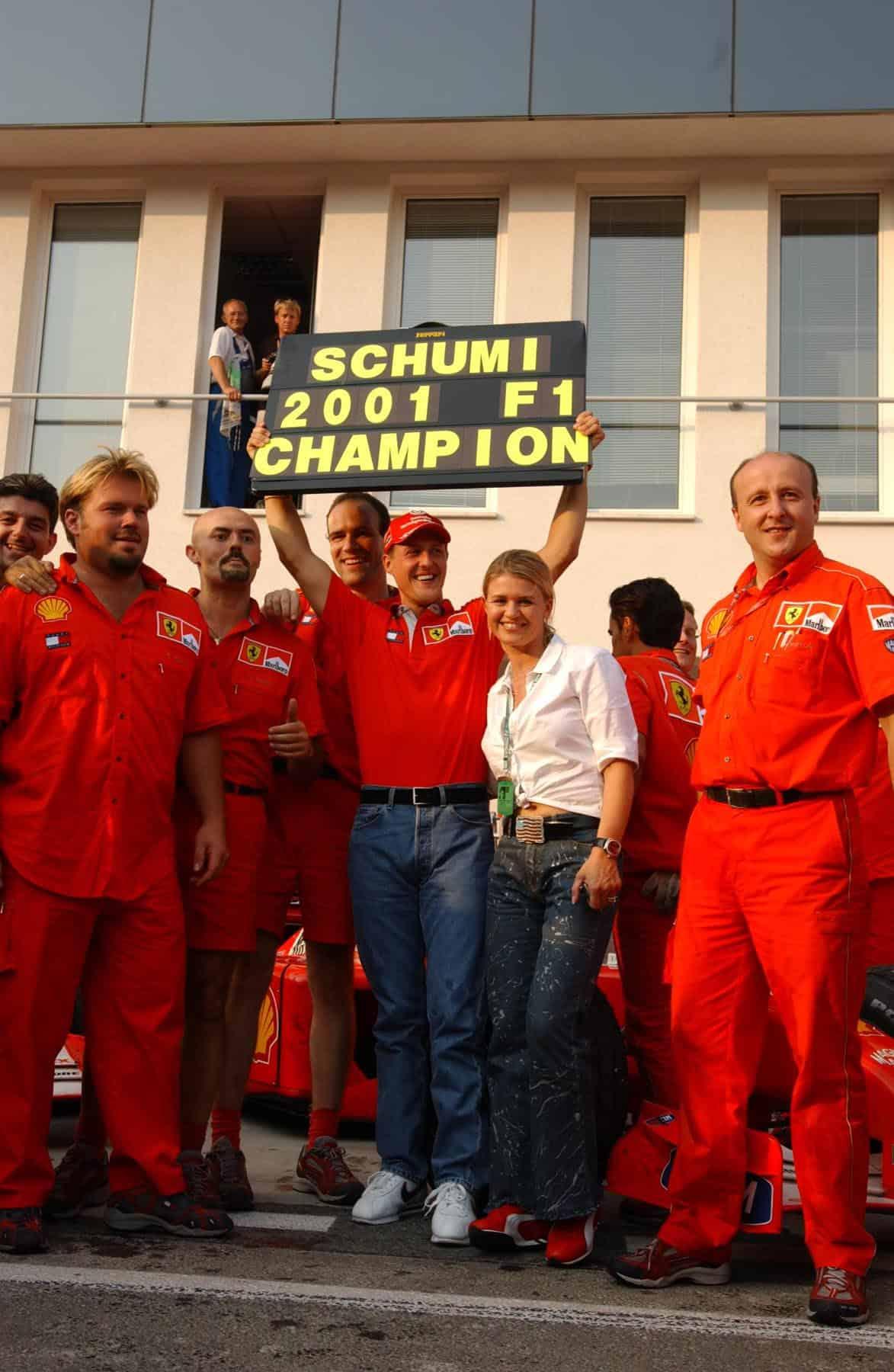 Michael Schumacher Ferrari F2001 fourth title Hungarian GP F1 2001 Photo Ferrari