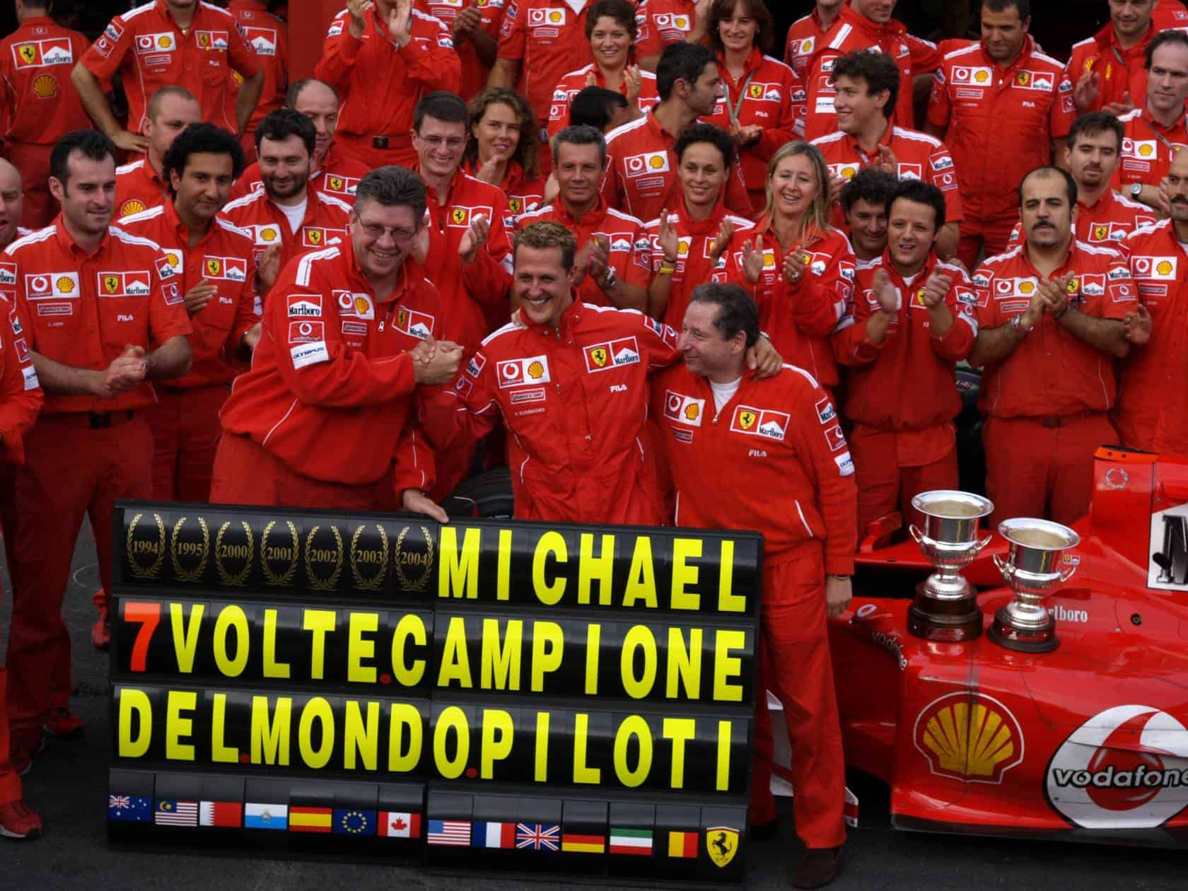 Michael-Schumacher-Ferrari-F2004-Belgian-GP-F1-2004-seventh-title-celebration-Photo-Ferrari.