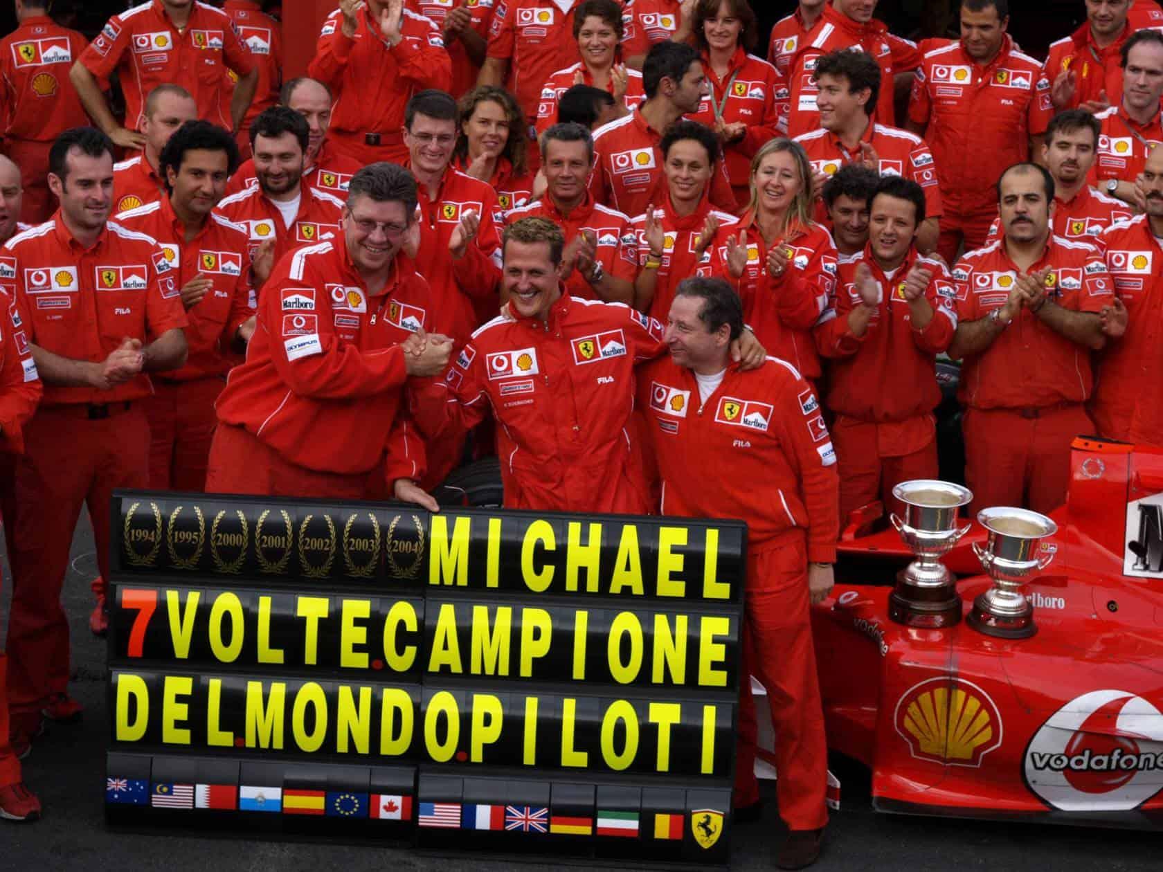 Michael-Schumacher-Ferrari-F2004-Belgian-GP-F1-2004-seventh-title-celebration-Photo-Ferrari.