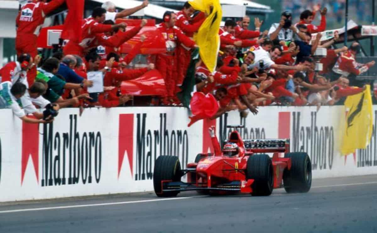 Michael Schumacher wins Hungarian GP F1 1998 Photo F1Madness