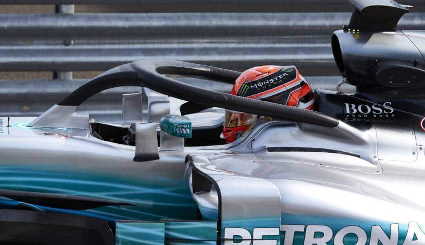 Russell Mercedes Hungary F1 2017 test Photo Daimler