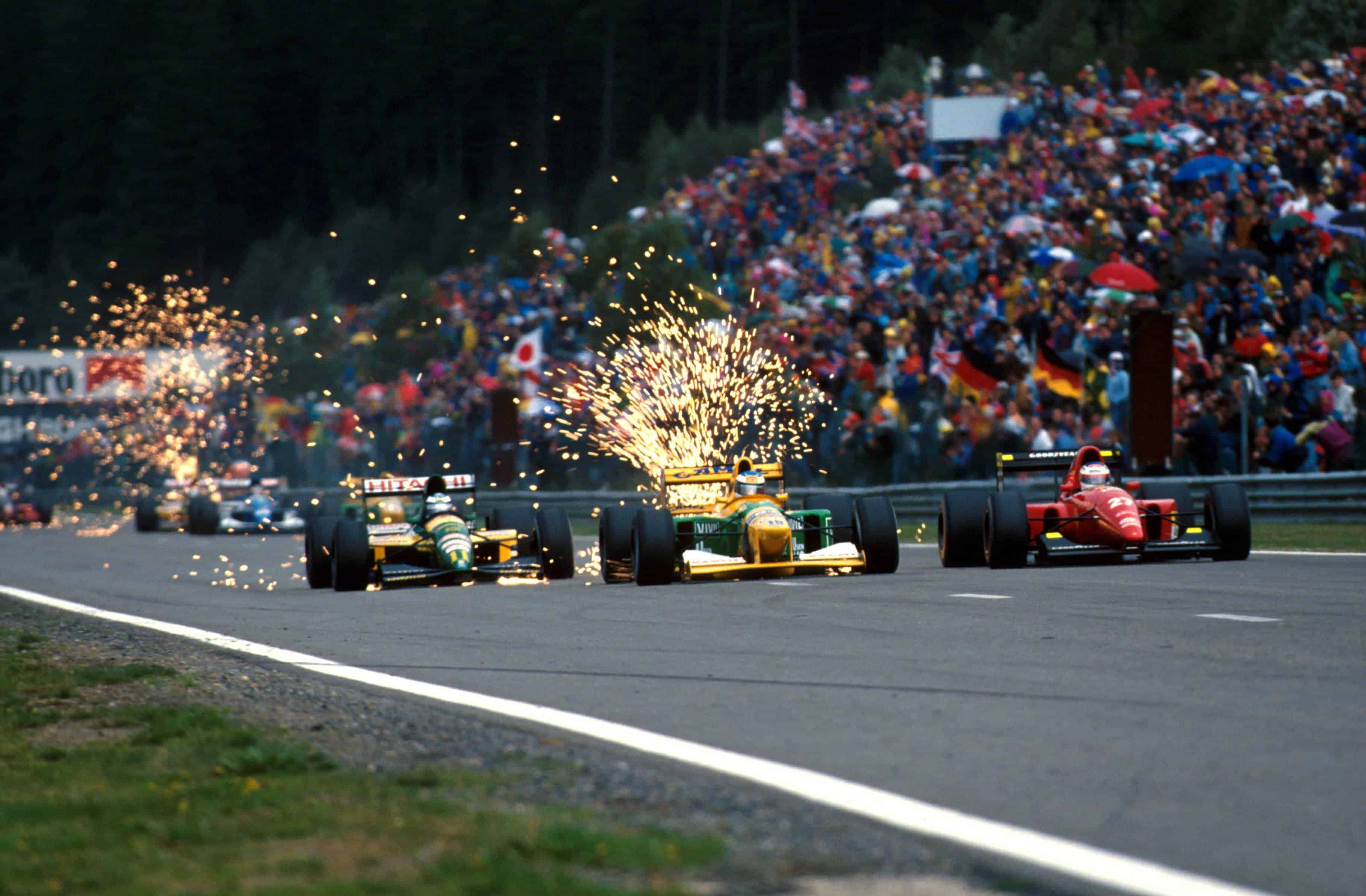 Schumacher-Hakkinen-Alesi-Belgian-GP-F1-