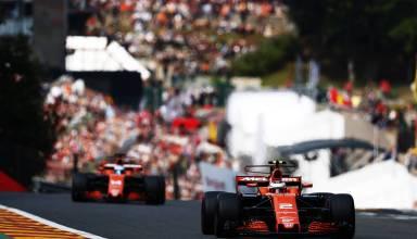 Vandoorne leads Alonso McLaren Honda Belgian GP F1 2017 Photo McLaren