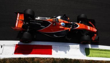 Alonso McLaren Honda Italian GP Monza F1 2017 Parabolica top Photo McLaren