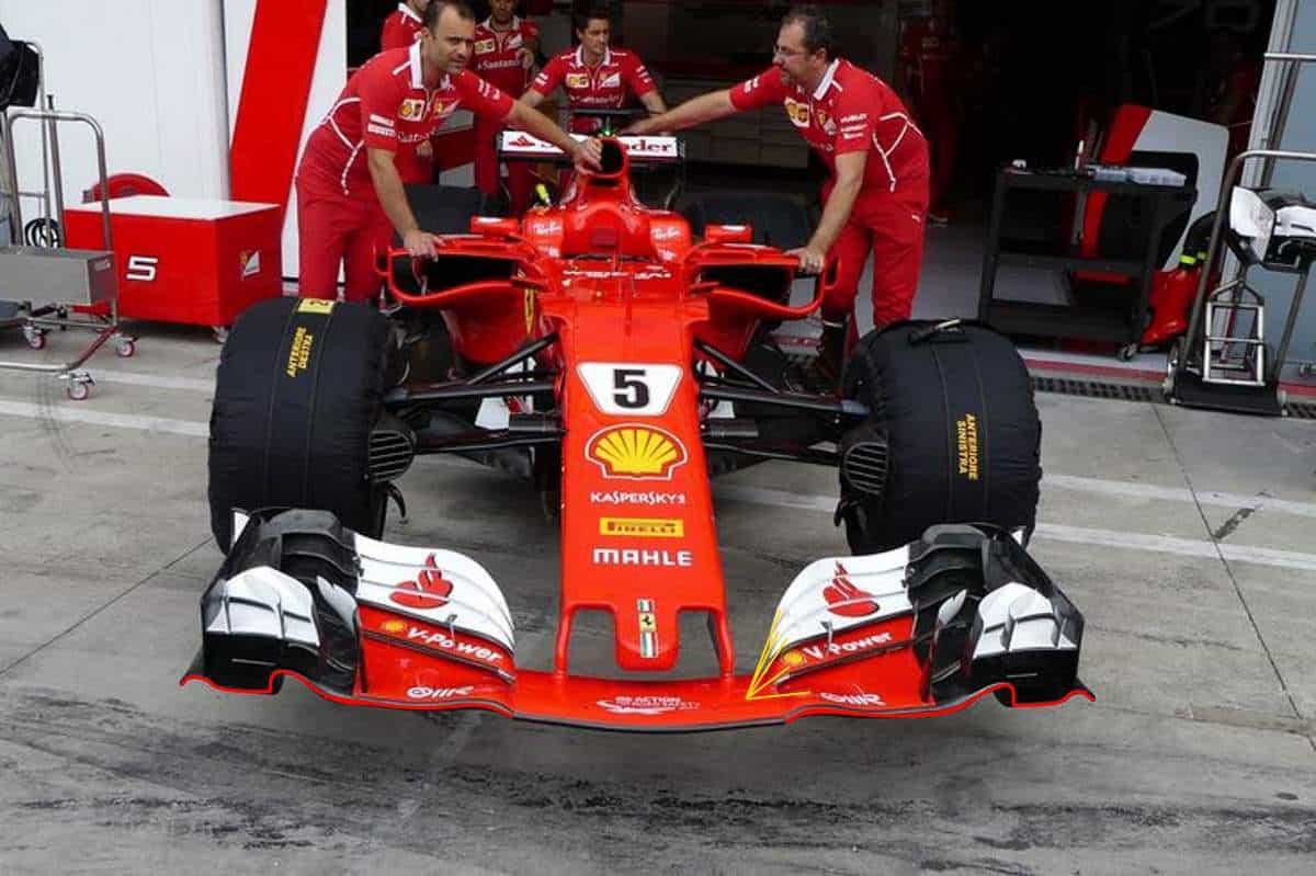 Ferrari SF70H Italian GP Monza F1 2017 front wing Photo AMuS MAXF1net