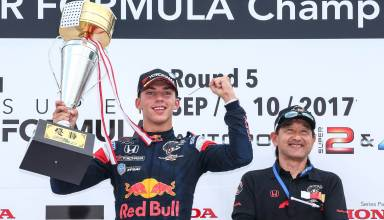 Gasly Super Formula wins Hita September 10th 2017 Photo Red Bull