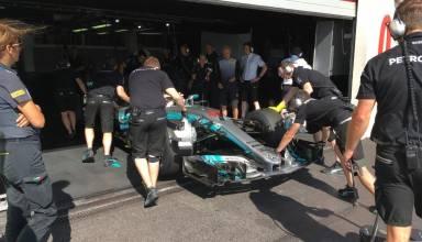 Hamilton Mercedes W08 Paul Ricard France Pirelli F1 2018 tyre test Photo twitter