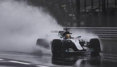 Hamilton rain Italian GP F1 2017 Monza Photo Daimler