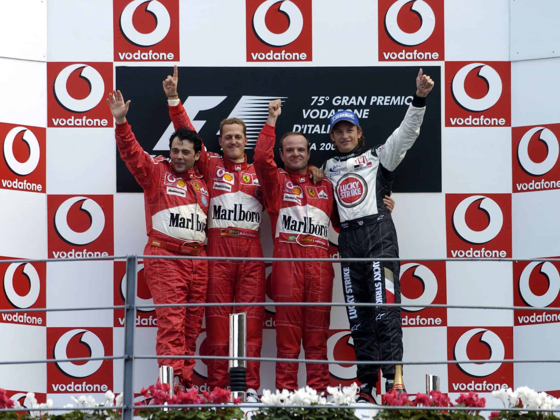 Italian GP F1 2004 Monza podium Photo Ferrari
