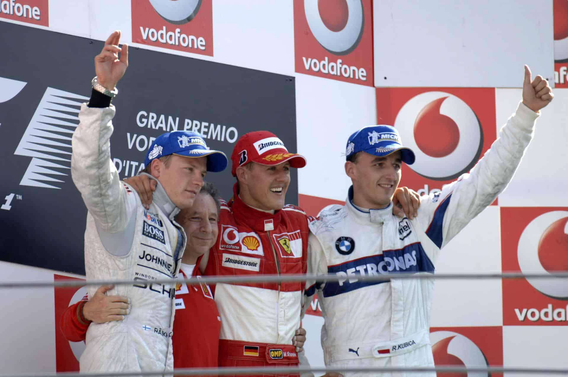 Italian GP F1 2006 Monza podium Photo Ferrari
