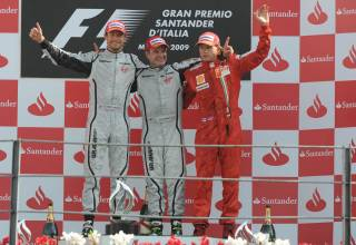 Italian GP F1 2009 Monza podium Photo Ferrari