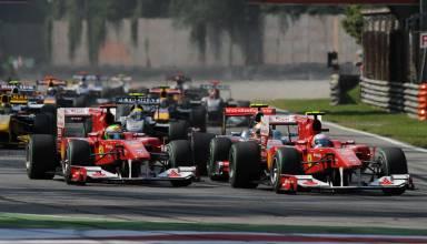 Italian GP F1 2010 Monza start second chicane Photo Ferrari