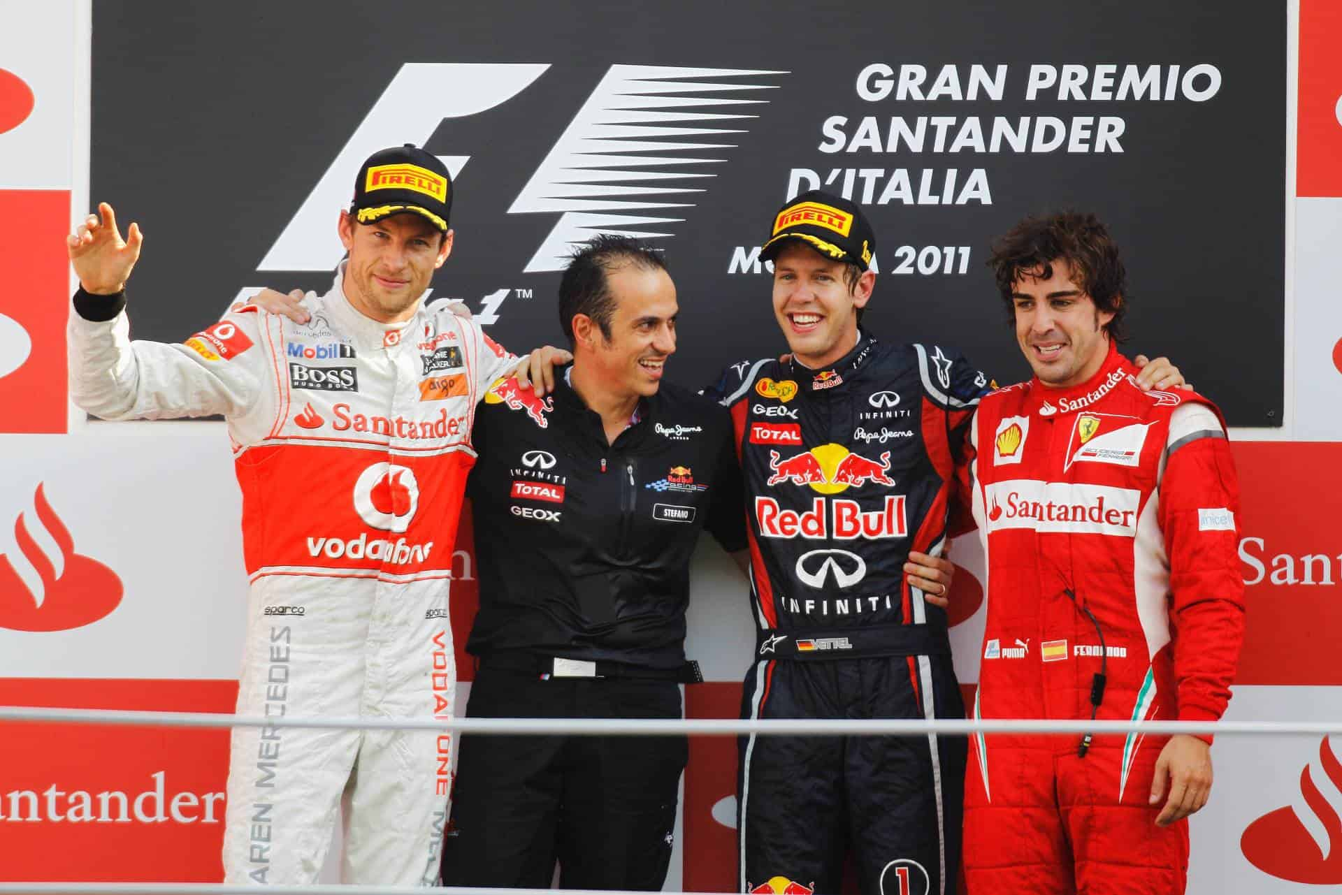 Italian GP F1 2011 Monza podium Photo Red Bull