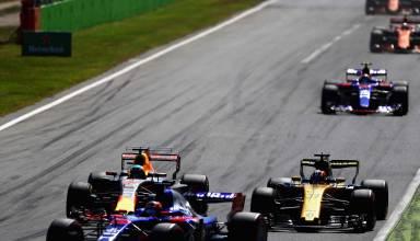 Kvyat Ricciardo Hulkenberg Italian GP F1 2017 Photo Red Bull
