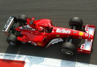 Michael Schumacher Ferrari F2002 Italian GP F1 2002 Monza Parabolica Photo Ferrari