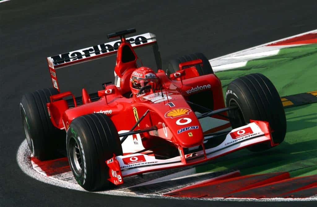 Michael Schumacher Ferrari F2002 Italian GP F1 2002 Monza chicane Photo Ferrari