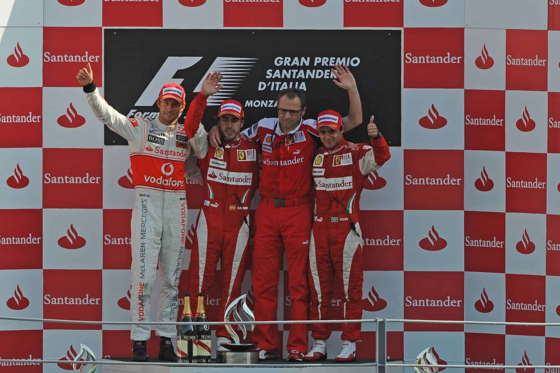 Monza 2010 Italian GP F1 2010 podium Photo Ferrari