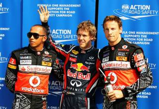 Monza F1 2011 Italian GP post qualifying Photo Red Bull