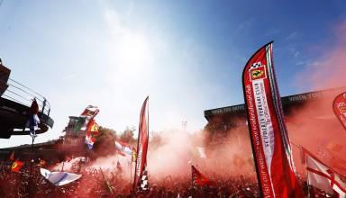 Monza F1 2017 celebrations fans Photo Pirelli