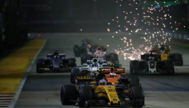 Palmer Renault Singapore GP F1 2017 Photo Renault