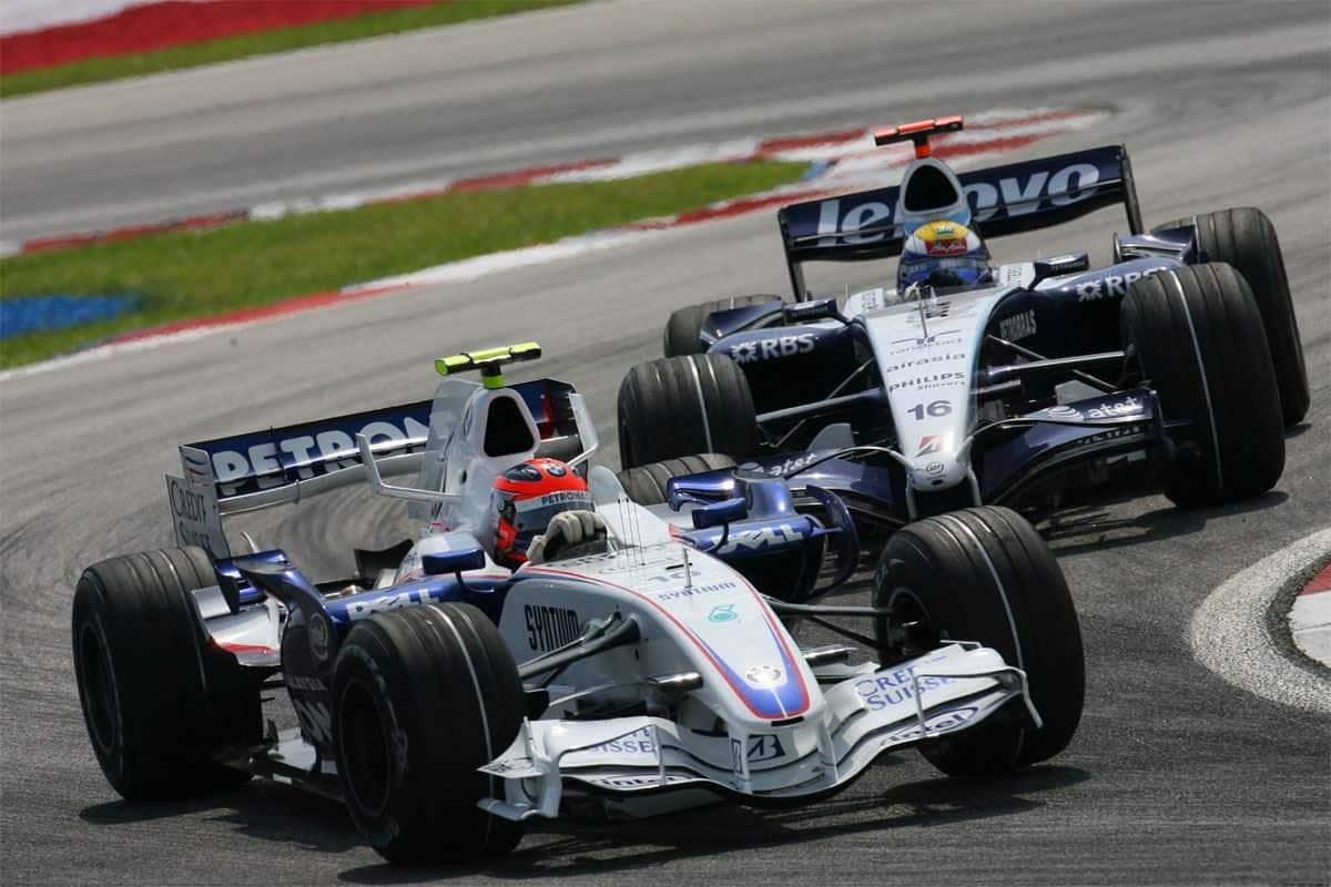Rosberg Kubica F1 2007 Malaysian GP