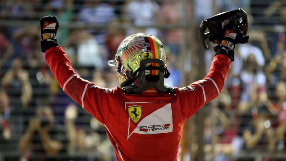 Vettel pole singapore f1 2017