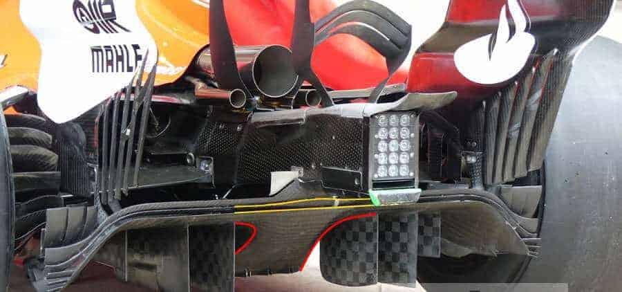Ferrari SF70H new diffuser Vettel USA GP Austin F1 2017