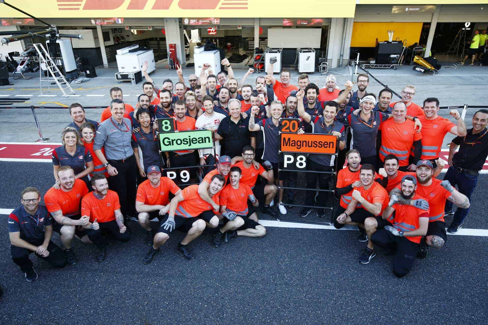 Haas Japanese gP F1 2017 Suzuka celebration Photo Haas
