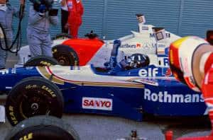 Hill Japanese GP 1996 Suzuka post race Photo Williams