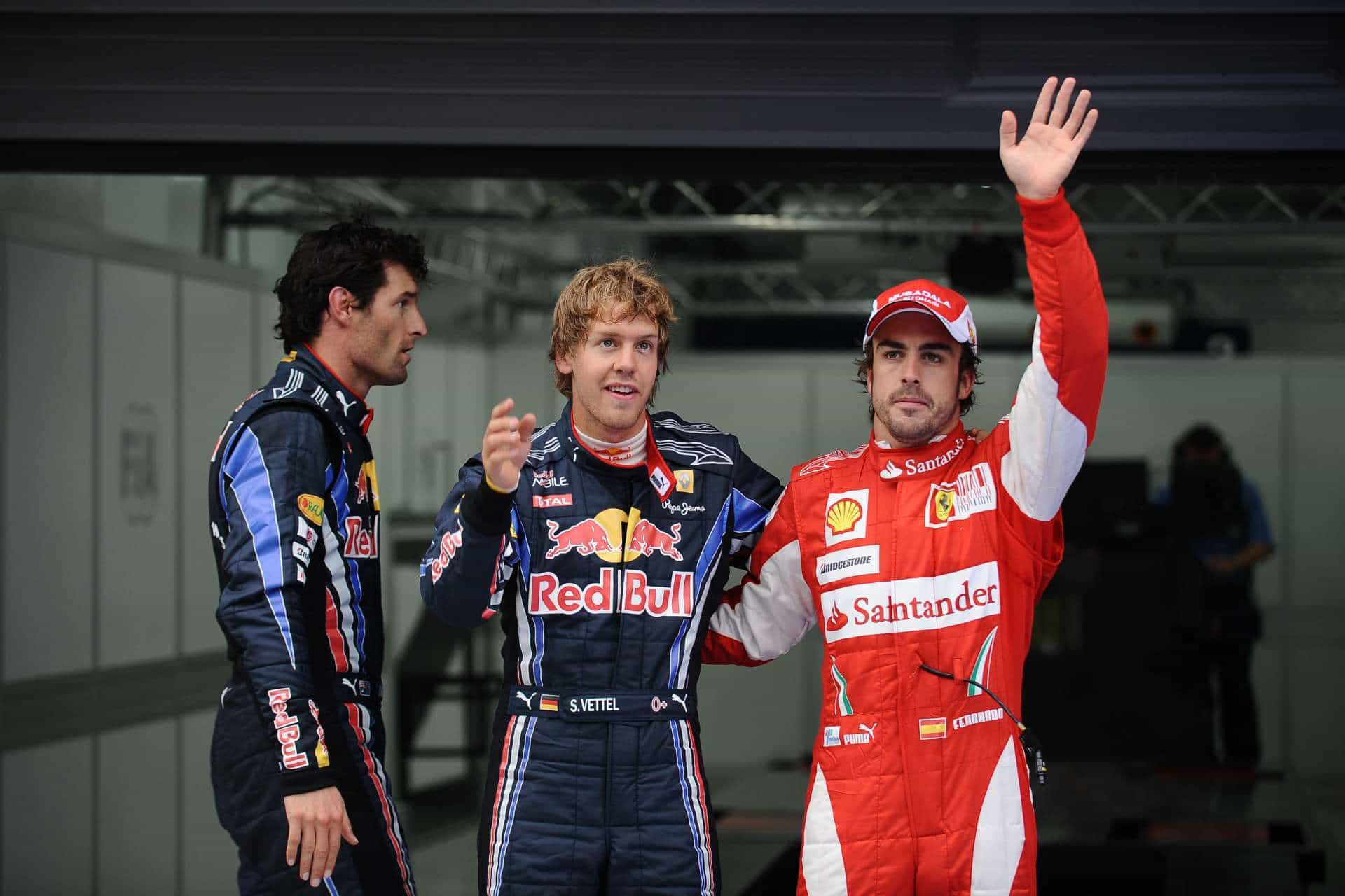 Korean GP F1 2020 qualifying top3 Vettel Webber Alonso Photo Ferrari