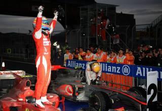 Korean GP F1 2020 race parc ferme Alonso Photo Ferrari