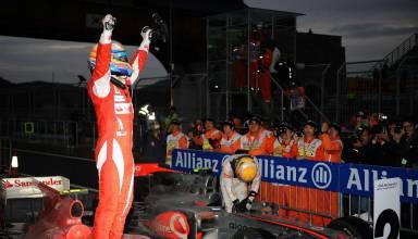 Korean GP F1 2020 race parc ferme Alonso Photo Ferrari