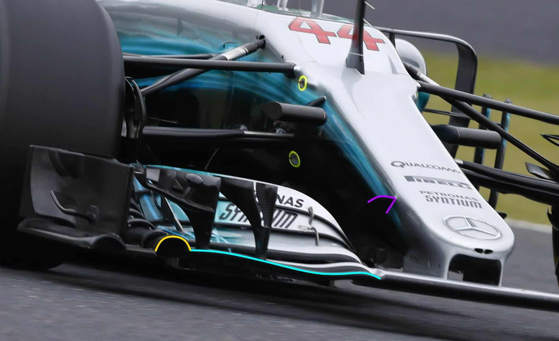 Mercedes W08 front wing new