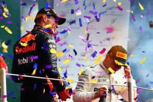 Verstappen Bottas Mexican GP F1 2017 podium Photo Red Bull