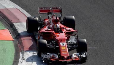 Vettel Ferrari Mexican GP F1 2017 kerb Photo Ferrari