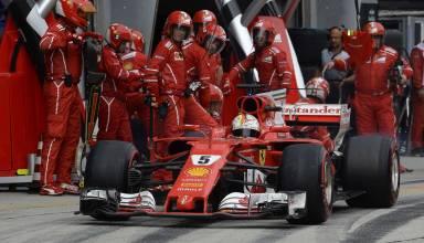 Vettel Malaysian GP pitlane F1 2017 Photo Ferrari