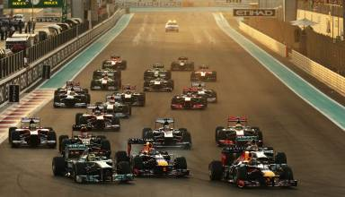 Abu Dhabi F1 2013 race start Photo Red Bull
