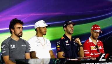 Alonso Hamilton Ricciardo Vettel Australian GP F1 2017 Photo Red Bull