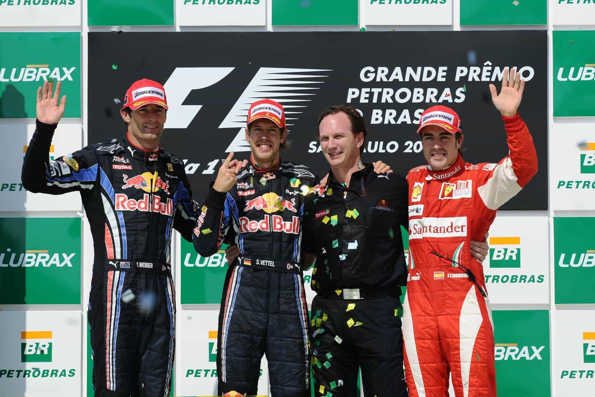 Brazilian GP F1 2010 podium Photo Ferrari